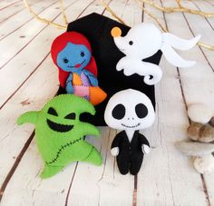 Nightmare Before Christmas Decor Halloween Ornaments Jack Skellington Sally Oogie Boogie Zero Ghost Dog Halloween Gift Baby Shower Favors by BelkaUA on Etsy https://www.etsy.com/listing/465422575/nightmare-before-christmas-decor