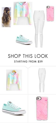 """Something......."" by keefesencen ❤ liked on Polyvore featuring Topshop, Converse and Casetify"
