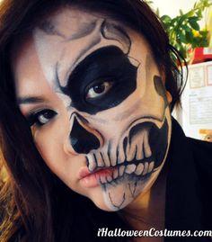 """H o u s e O f D C: """"Born This Way"""" Lady Gaga/Rick Genest-inspired Skull Makeup Halloween Skull Makeup, Sugar Skull Makeup, Halloween Make Up, Sugar Skulls, Halloween Ideas, Cool Costumes, Halloween Costumes, Costume Ideas, Adult Costumes"""