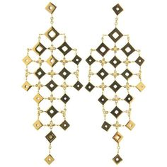 Paolo Piovan 18kt black gold chandelier earrings - Metallic aTkDYhZbh8