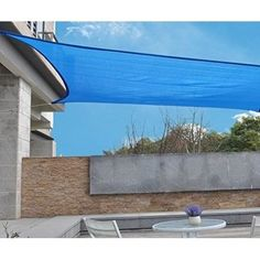 Sun Shade Sail Square Garden Patio Canopy Yard Lawn Beach Gear Summer 16x16 Blue #GardenAccessories