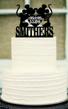 Mickey Mouse Cake TopperDisney Wedding Cake by Customorderhouse