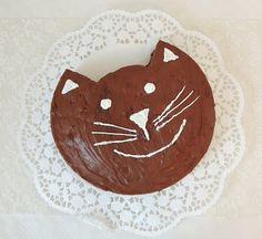 oh SO easy cat cake. Happy Birthday Boy, Cat Birthday, Super Torte, Colorful Birthday Party, Birthday Parties, Cake Shapes, Themed Cupcakes, Food Themes, Round Cakes