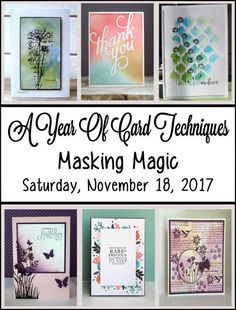 Welcome to         Welcome to A Year of Card Techniques Blog Hop  where each month we feature a different card technique. We've assembled ...