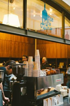 Blue Bottle Coffee, San Francisco. This is the best coffee I've ever had. Philz is a not so distant second, but Blue Bottle has the edge (and espresso).