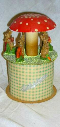 German Easter Rabbit Candy Container.