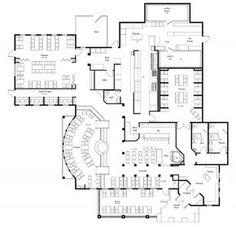 Cafe Floor Plan, Restaurant Floor Plan, Restaurant Kitchen Design, Restaurant Layout, Floor Plan Layout, Restaurant Interior Design, Floor Plans, Restaurant Exterior, Restaurant Restaurant