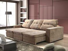 Sofá reclinável.