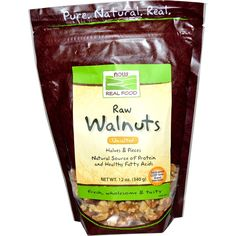Now Foods, Real Food, Raw Walnuts, Unsalted, 12 oz (340 g) - Review - http://pusabase.com/blog/2016/07/02/iherb-recommended-products-july-edition/   #iherb #favorites #recommendations #shopping #shoppingtips #recommended