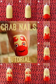 inSANEnails: Crab nails tutorial