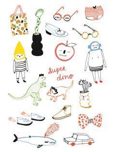 Art Et Illustration, Pattern Illustration, Pinterest Instagram, Illustrations And Posters, Surface Design, Illustrators, Art Drawings, Stencils, Character Design