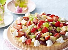 Gemengde fruittaart met banketbakkersroom (Libelle Lekker!)