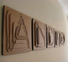 Cardboard name art