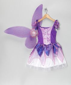Take a look at this Purple Butterfly Dress & Wings - Girls by Story Book Wishes on #zulily today!