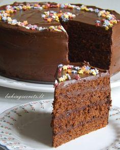 Baking Secrets: Šokoladinis grietininis tortas / Chocolate Sour Cream Layer Cake