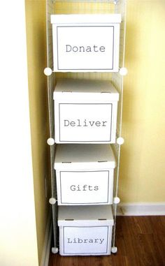 Great organization idea!