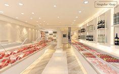 Render Grau 3 Butcher Store, Carnicerias Ideas, Meat Shop, Meat Markets, Shop Counter, Shopping Places, Commerce, Restaurant Design, Store Design