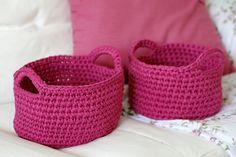 Patrones con trapillo (36): cestos