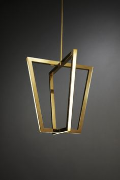 Asterix: A Family of Geometric Brass Chandeliers in home furnishings Category
