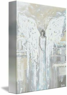 special-release-giclee-print-abstract-angel-painting-angel-of-love-spiritual-grey-blue-cream-decor/ SULTANGAZI SEARCH Dance Paintings, Paintings Of Angels, Canvas Art, Canvas Prints, Unique Paintings, Christmas Paintings, Angel Art, Love Art, Framed Art Prints