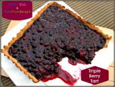 Triple Berry Tart #paleo