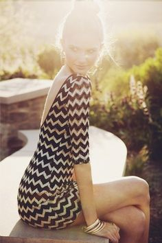 amazing Missoni | StyleCaster. I love the back of this dress! so elegant!