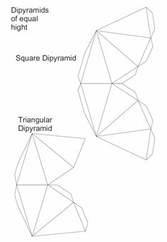 Nets triangular dipyramid and square dipyramid
