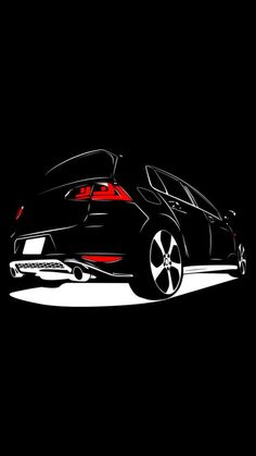 Vw Golf Wallpaper, Jdm Wallpaper, Black Wallpaper, Vw Logo, Volkswagen Logo, Bike Stickers, Moka, Car Wallpapers, Cool Bikes