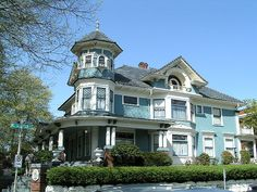 Queen Anne style Victorian home.