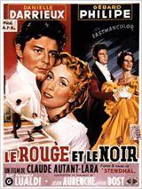 """""""Le Rouge et le Noir"""" de Claude Autant-Lara avec Gérard Philipe, Danielle Darrieux, Antonella Lualdi. 1954."""