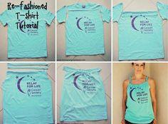 T-shirt to tank top. love re-fashioning! T Shirt Tutorial, Recycled T Shirts, Cut Shirts, T Shirt Diy, Disney Shirts, Diy Clothing, Refashion, Athletic Tank Tops, My Style