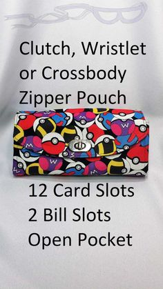 Pokemon fabric made into an adjustable purse. by NoCapesStore