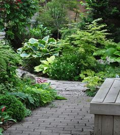 another example of a beautiful shade garden, flowers, gardening, outdoor living