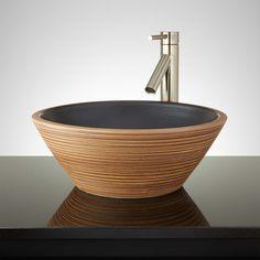 Orellana+Hand-Glazed+Vessel+Sink+-+Desert+Brown