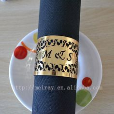 Wholesale-laser cut india napkin rings for wedding gold napkin rings 2015