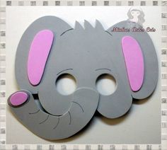 Masks in elephant foami - Imagui - Top Win Space Animal Activities, Preschool Activities, Printable Animal Masks, Diy Eyeshadow, Elephant Costumes, How To Make Cream, Diy And Crafts, Paper Crafts, Make Up Organiser