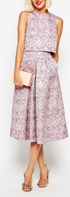 jacquard layered midi dress