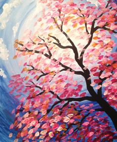 Spring Tree. Paint Tyme in South Jersey! Paint and sip painting. www.painttyme.com