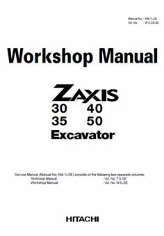 Hitachi ZX135US-5A and ZX135US-5B Excavator Service Manual