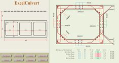Concrete Box Culvert analysis and Design Spreadsheet Precast Concrete, Concrete Structure, Reinforced Concrete, Concrete Design, Civil Engineering Software, Engineering Notes, Civil Engineering Construction, Concrete Calculator, Retaining Wall Construction