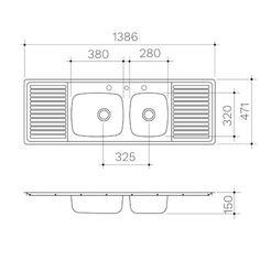 Kitchen Sink - Benchmark - Benchmark 1.5 Centre Bowl