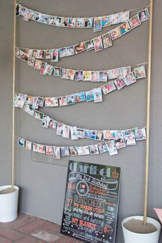 Clothesline of photos at this #firstbirthday