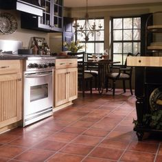 Terracotta floors like this one for the kitchen