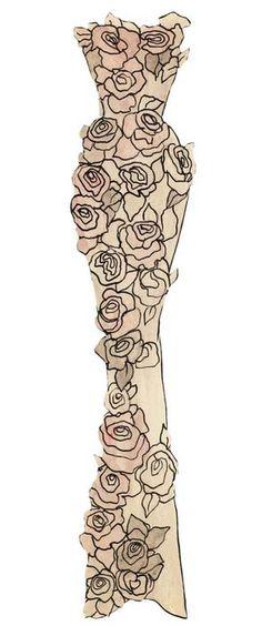Yves Saint Laurent - Paper Dolls - 1953-55 - Robe du Soir Fourreau 'Calypso'