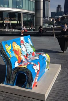 London has been filled with 50 book-shaped benches for  the summer of 2014, celebrating a range of books from classics to modern favourites. Orgniased by he National Literacy Trust (NLT)