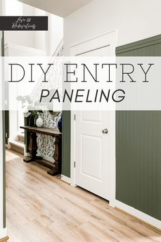 How to install tall, moody beadboard in the entry. This tall beadboard is stunning and creates a cozy and welcoming entryway. Entryway Furniture, Entryway Decor, Entryway Ideas, Foyer, Home Projects, Design Projects, How To Install Beadboard, Blue Table Lamp, Blogger Home