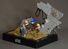 Lego Minifigure Display, Lego Clones, Cool Lego Creations, Lego Stuff, Lego Building, Lego Ideas, Lego Star Wars, Boruto, Vignettes