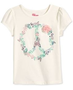 Epic Threads Mix and Match Peace Sign Graphic-Print T-Shirt, Toddler & Little Girls (2T-6X), Only at Macy's - Holiday