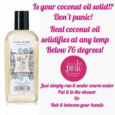 Coconut Oil. Perfectly Posh. https://jenniferbonti.po.sh/front #perfectlyposh #coconutoil #pamperyourself #spa #clean #beauty #health #moisturize #natural #skincare