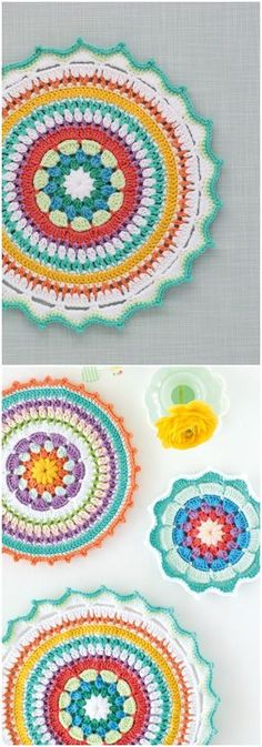 We are sharing here free crochet mandala patterns that differ from each other in style, geometric patterns and in color schemes!Crochet Colorful Mandala